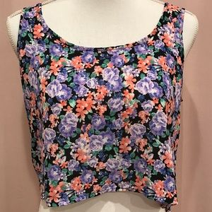 Forever 21 Floral crop top small
